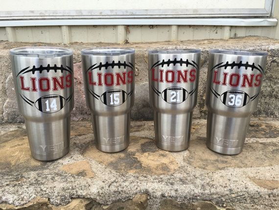 Custom Football Decal yeti decal yeti football by JOandJdesigns