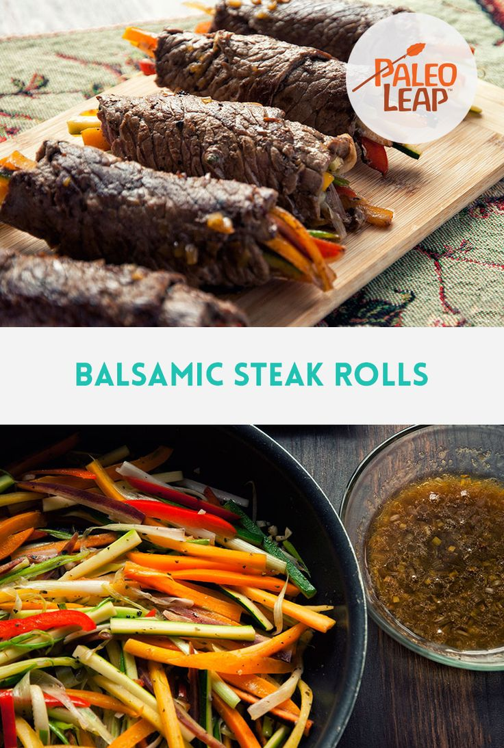 One of our most popular #Paleo recipes: Balsamic Steak Rolls