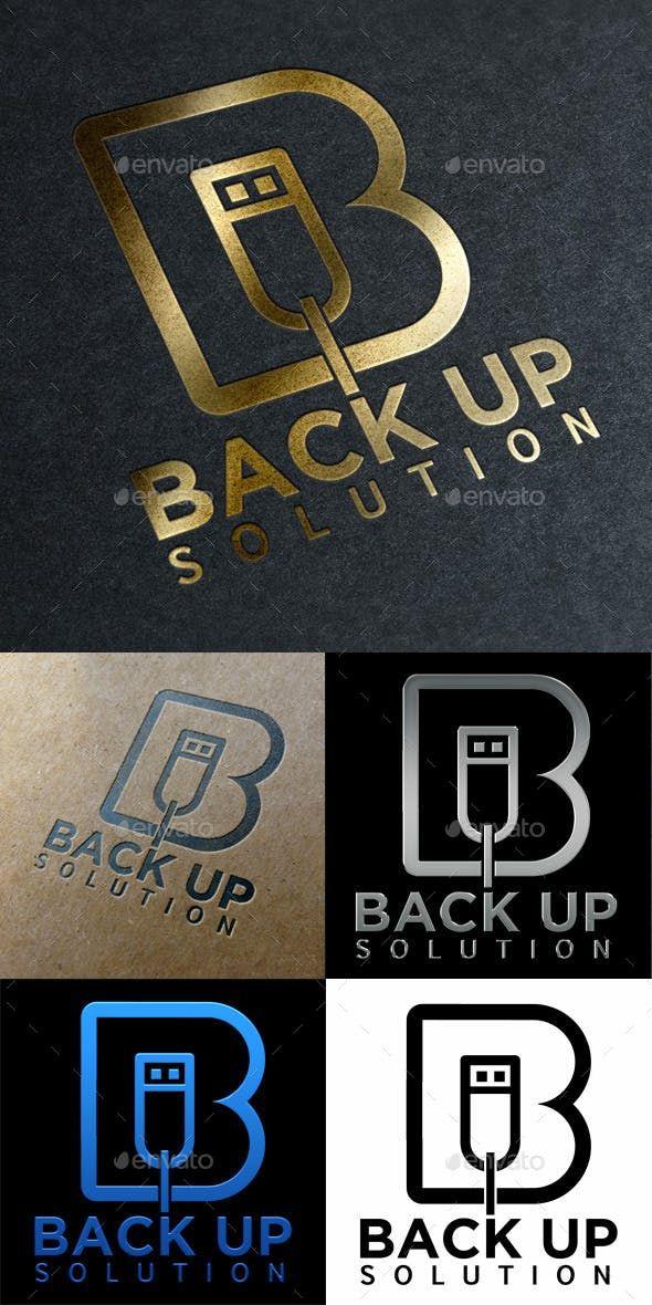 Logo Back Up Solution Technology — Photoshop PSD #port #computer