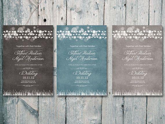 Romantic Garland #Wedding #Invitation and Reply by WeddingSundae,