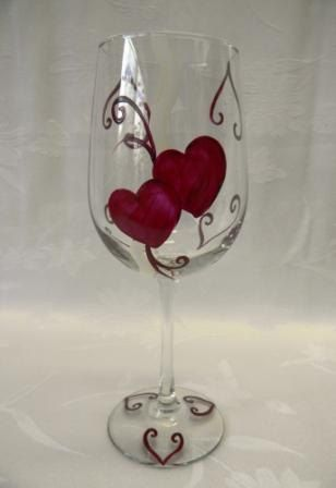 530 best glass images on glass painted wine