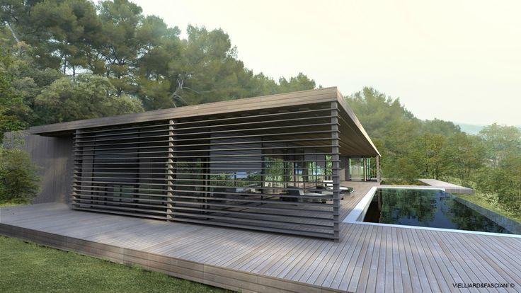 Vielliard fasciani maison contemporaine aix en provence for Maison moderne 57
