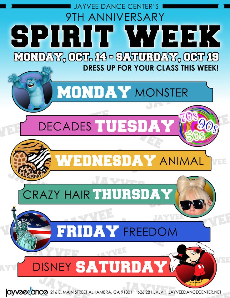 spirit week                                                                                                                                                     More