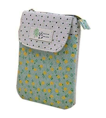Oferta: 8.99€. Comprar Ofertas de Bronze Times (TM) Mini Bolso de Teléfono Móvil/Bolso de Bandolera de Cremallera Floral Punto Polka Oso Panda(Verde) barato. ¡Mira las ofertas!