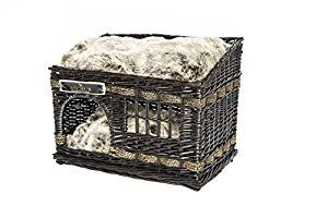 Michur Jerry darkbrown wicker basket house cave bed for dogs cats incl. Pillows: Amazon.co.uk: Pet Supplies
