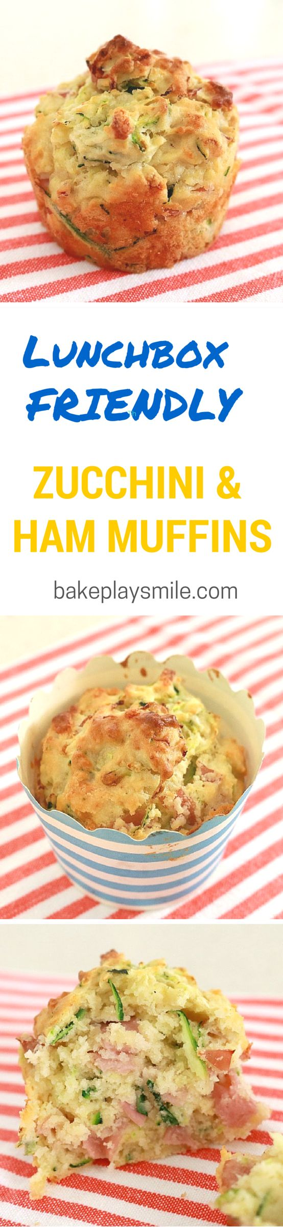 Finally something that kids will actually eat! This is one of my favourite recipes for sneaking vegetables in! #zucchini #ham #muffins #savoury #lunchbox #kids #snacks #healthy