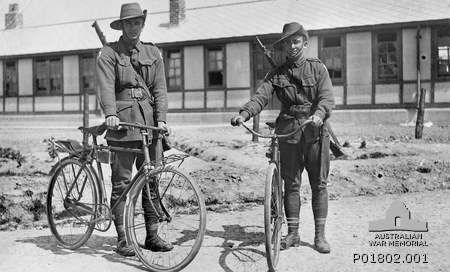 Today Australians & New Zealanders remember the 'diggers' that fought and continue to fight in wars. The bicycle has a surprising history on the war front - not only on the front line but also to carry supplies & communications.