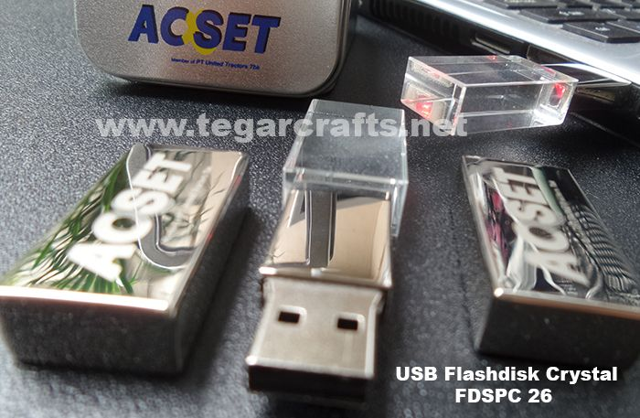 USB Flashdrive Crystal types FDSPC 26 16GB An elegant flashdrive made from crystal glass, ideal to be used as a promotional gimmick for the company or distributed to staff and employees to celebrate companies anniversary. as shown above a crystal flashdrive ordered by PT Acset Indonusa Tbk, Jakarta, a subsidiary of PT United Tractors Tbk