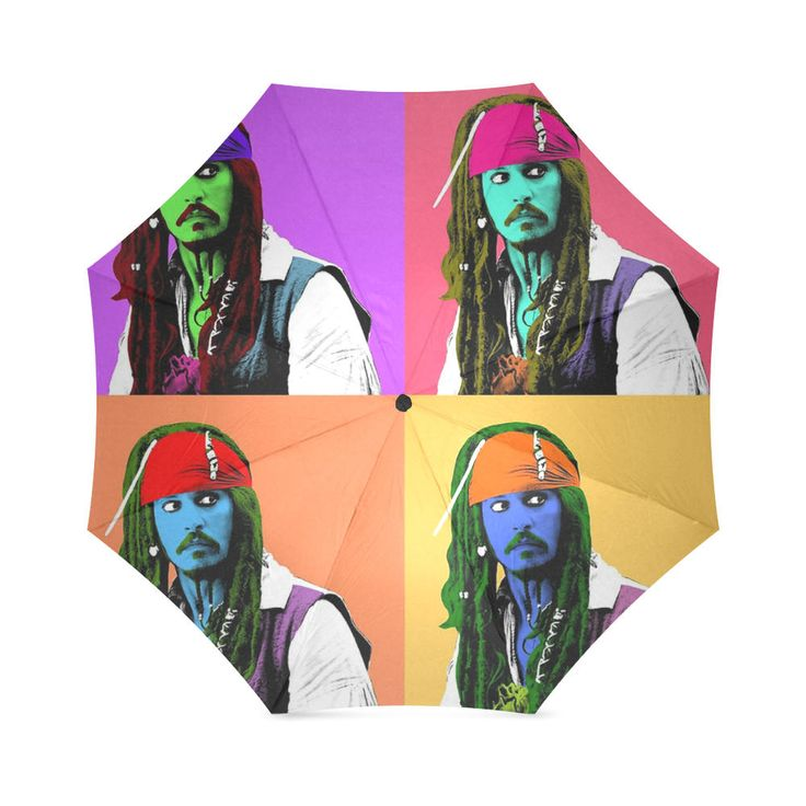 Johnny Depp Folding umbrella. by bestofbloodybritish on Etsy