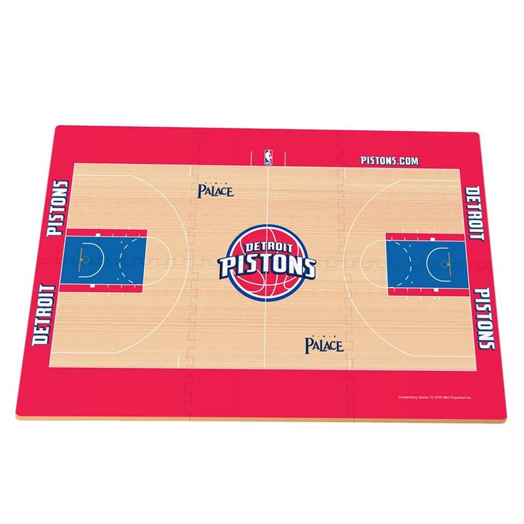 Detroit Pistons Replica Basketball Court Foam Puzzle Floor, Black