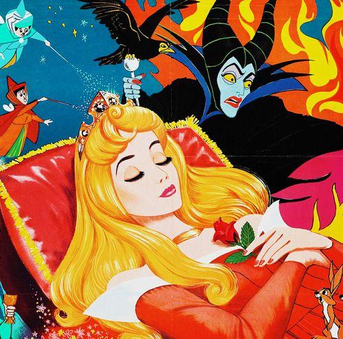 disney posters vintage | Illustration art film disney vintage cartoon Sleeping Beauty ...