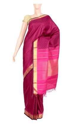 Pure Silk With Half Fine Zari