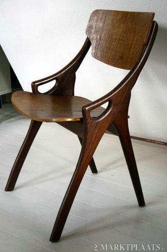 6 Arne Hovmand Olsen Deens Design Vintage stoelen 50′s Retro