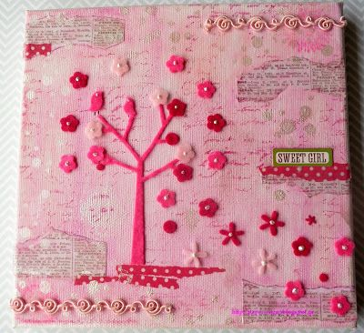Paper and Sugar: Nursery Art, Mixed Media