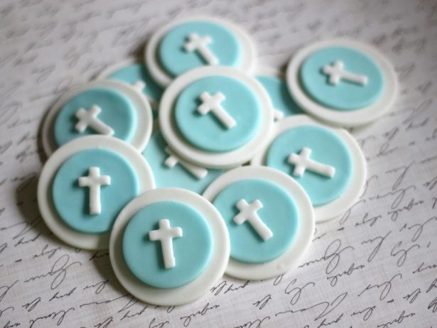 Fondant Cupcake Toppers Christening Baptismal First Communion Fondant Toppers - Cross Fondant Toppers by Les Pop Sweets on Gourmly