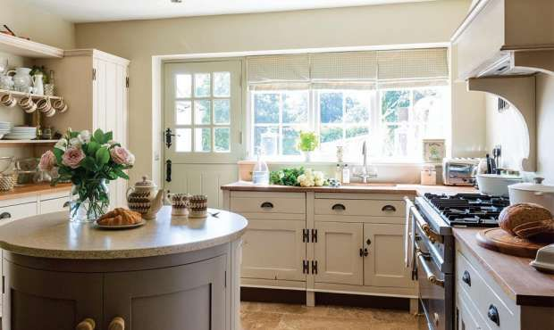 Restoring a Yorkshire cottage | Period Living I like the round island in this space.