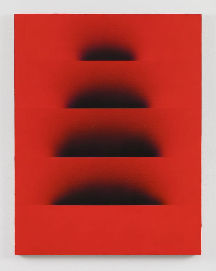 "Adam Henry [USA] (b 1974) ~ ""Untitled (soft Pyramid)"", 2016. Acrylic and synthetic polymers on Linen (79 x 107 cm)."