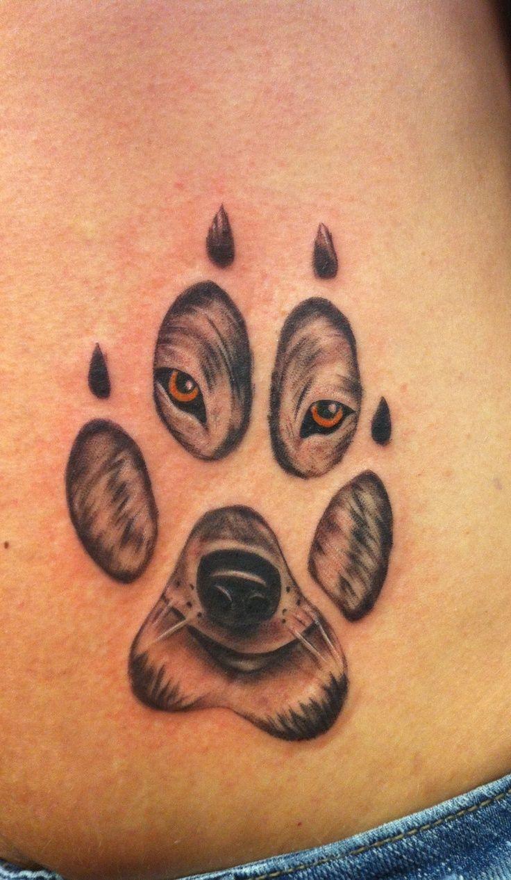 Best 20  Wolf paw tattoos ideas on Pinterest | Wolf print ...