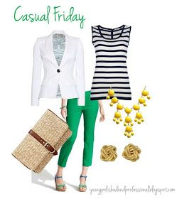 Young, Polished & Professional: Fashion Friday: Casual Fridays in the office, what does that mean?