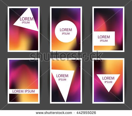 Bright colorful holographic background set. Design for greeting card, report, cover, book, print, fashion. Modern hipster style trends