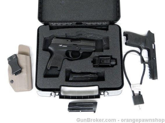 SIG P320 SubCompact 9mm Pistol Tactical Bundle Blk : Semi Auto Pistols at GunBroker.com #SIG #SAUER #P320 #Subcompact #Compact #Conceal #Carry #Tactical #Pistol #Bundle #Black #Handgun #Sidearm #9mm