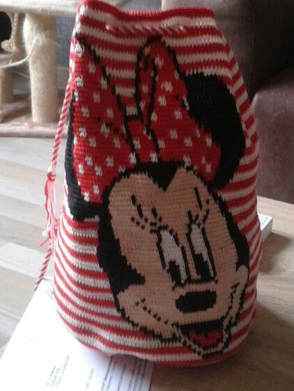 Wayuu Mochila bag Minnie Mouse