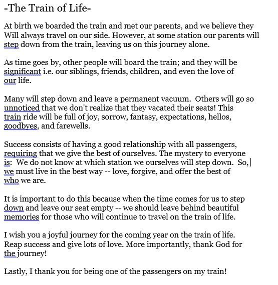 Life Is Like A Train Ride Quote Daily Inspiration Quotes