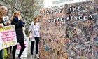 Campaigners protest against the Sun's Page 3 at News International's headquarters