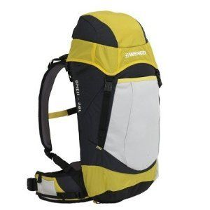 Wenger Onex Patagonia Backpack (20L, Yellow). High-D frame sheet, thermo molded back panel, ergonomic shoulder straps & removeable waist belt, load lifter stabilizer straps, hip belt stabilizers. Torso Frame Fit: one size: universal. hydration compatible with stash pocket and hydration ports, top loading, zip security pocket under top lid, stretch mesh front stash pocket, front zip pocket w/organization panel, media pocket. side stretch mesh water bottle and accessory pockets, Swiss Army...