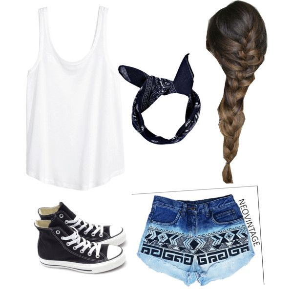 state fair by cocopuff1324 on Polyvore featuring polyvore fashion style H&M Converse