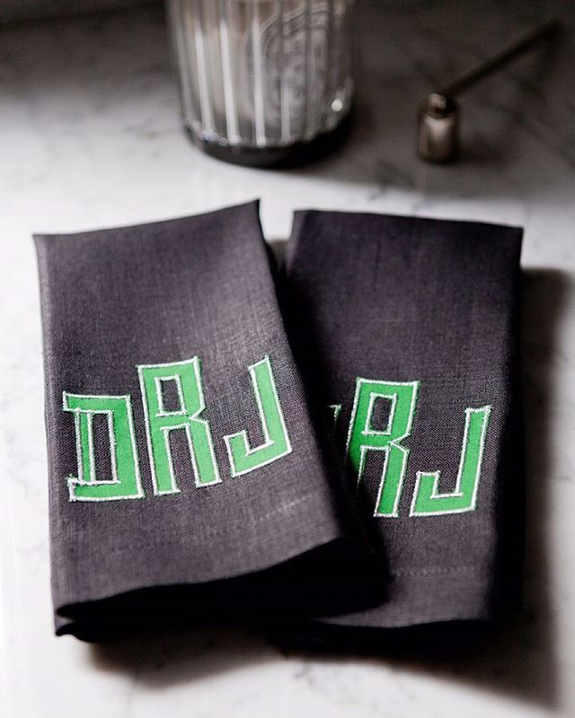 Best The Powder Room Images On Pinterest Powder Rooms - Monogrammed hand towels for small bathroom ideas