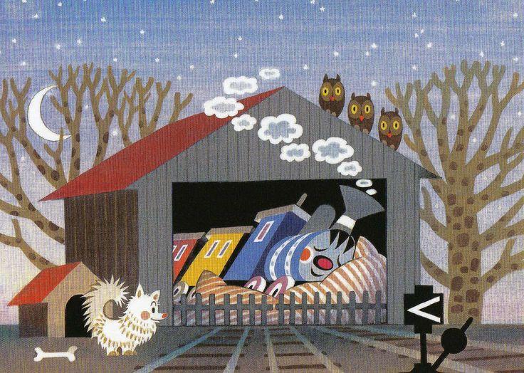 (2015-02) Toget sover i remisen