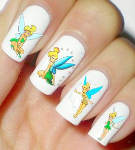 Disney Tinker Bell Nails Art Polish Manicure Cosplay by artnails1