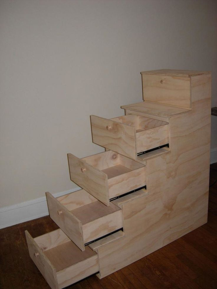 Image detail for -Stairs with built in drawers open