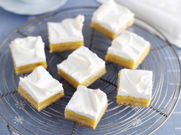 The flavours and texture of lemon meringue pie are firm favourites with many, this slice version makes serving the slice to many much easier.