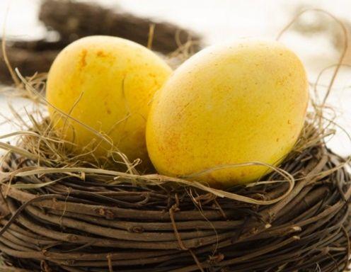 Eier färben mit Kurkuma