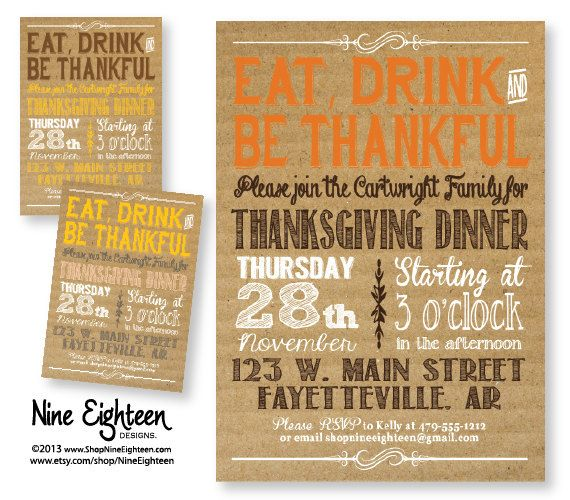 22 best Thanksgiving Invitations images on Pinterest Card stock
