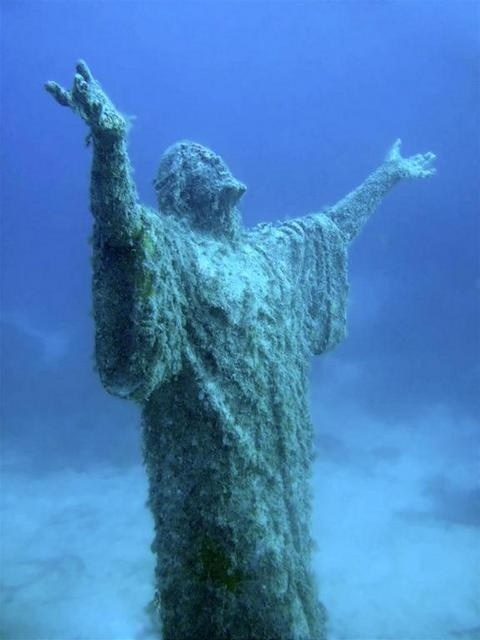 """UnderWater Statue Of Jesus""  Malta"