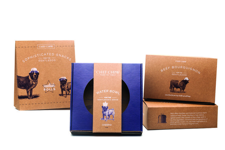 Branding and Structural Packaging Design for Premium Farm-To-Table Mail Order Dog Food Company / World Brand & Packaging Design Society