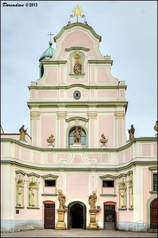 Spacious Church of the Holy Spirit (Kostel Sv. Ducha), an integral part of the Opava Minorite convent, is interesting structure with early Gothic core and Baroque exterior. #church