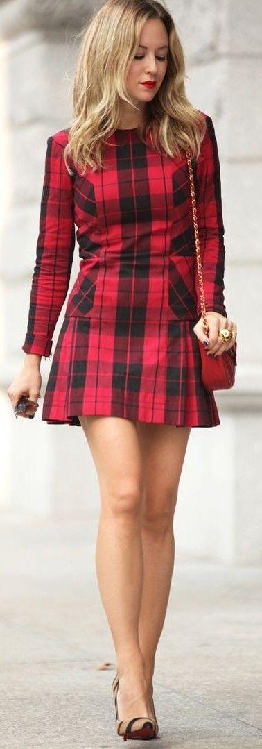 #business #casualoutfits #spring   Tartan Plaid Little Dress   Brooklyn Blonde