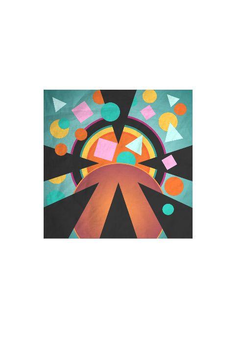 Mens Pañuelo Cuadrado De Seda - Círculos De Color Abstractos 23 Por Vida Vida S5U3jBbmj