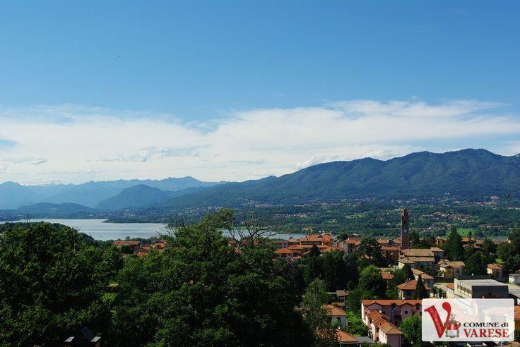 Il lago di Varese: panorama dal belvedere di Azzate