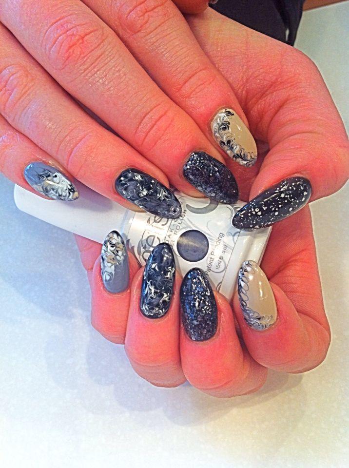 Gelish nail design