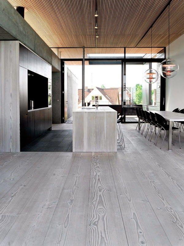 15 cocinas increíbles con suelos de listones de madera · 15 amazing kitchens with plank wooden floors