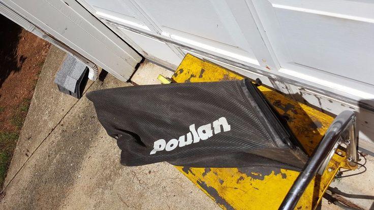Poulan Craftsman Lawn Mower Two Hook Design Rear Bag PLEASE READ #Poulan