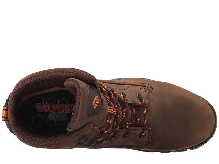 Wolverine Glacier Ice Composite Toe Boot Men's Work Boots Summer Brown