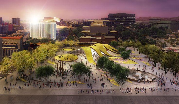 Brooks + Scarpa revelam sua proposta para novo parque no centro de Los Angeles