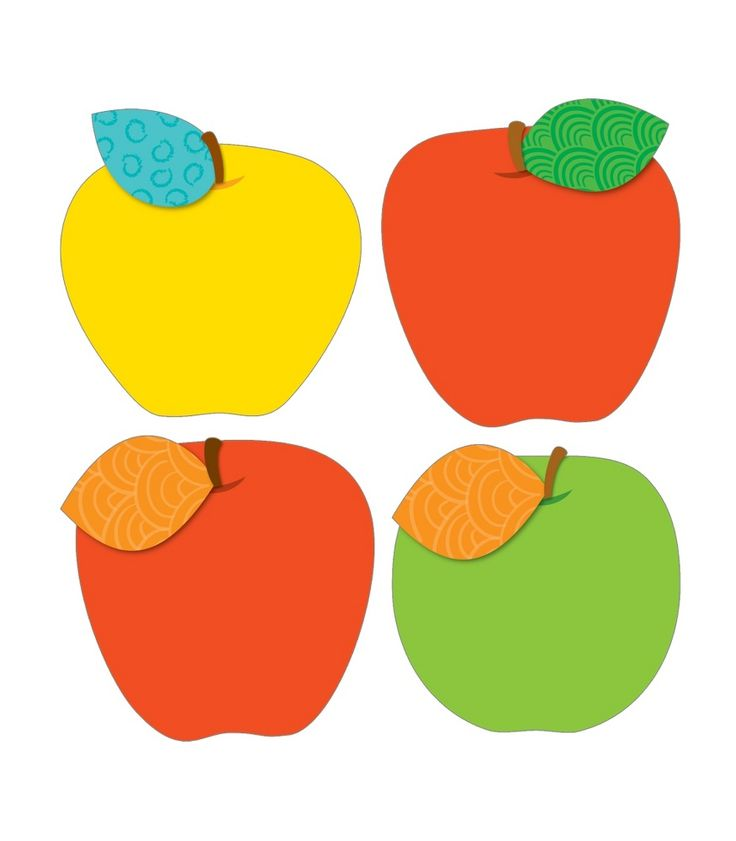 """Decorate your classroom with these fun apple designs!  Cut-outs can be used for more than decoration! Use them for game pieces, to brighten up cubbies, fun name tags, reward cards and much more!  This 36 piece pack includes an assortment of fun designs printed on card-stock., each approximately 6"""" x 6  1/2"""". #CDWish13"""