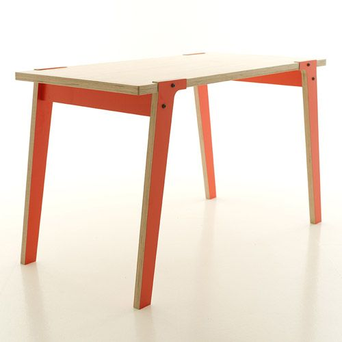 Design tafel Switch oranje poten